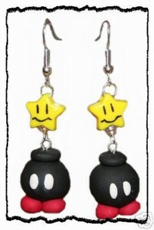 Bomb omb earrings