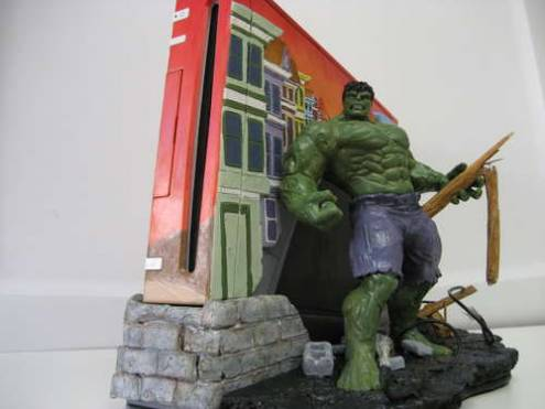 Incredible Hulk Wii case mod