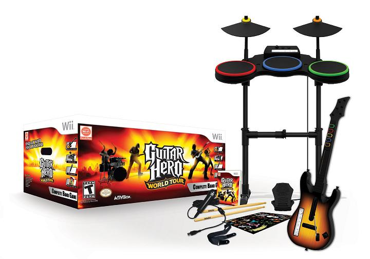 guitar hero world tour set list packaging revealed infendo nintendo news review blog and. Black Bedroom Furniture Sets. Home Design Ideas
