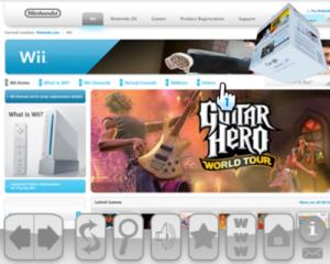 Internet Channel to use tabs, Wii Speak