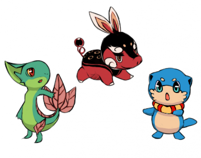 Pokemon black and white starters