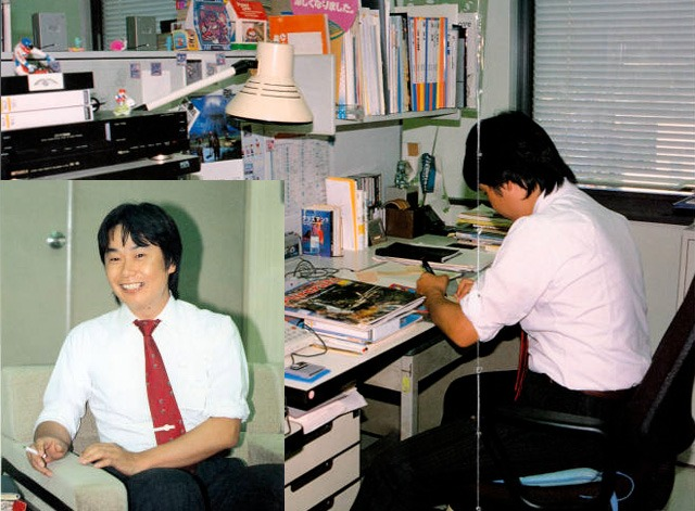 Miyamoto Hard at Work