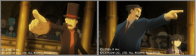 Professor Layton & Phoenix Wright cross-over coming to 3DS
