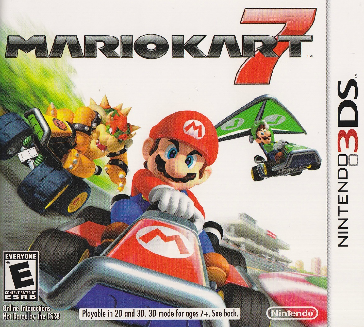 mario kart 7 cover art infendo nintendo news review blog and podcast. Black Bedroom Furniture Sets. Home Design Ideas