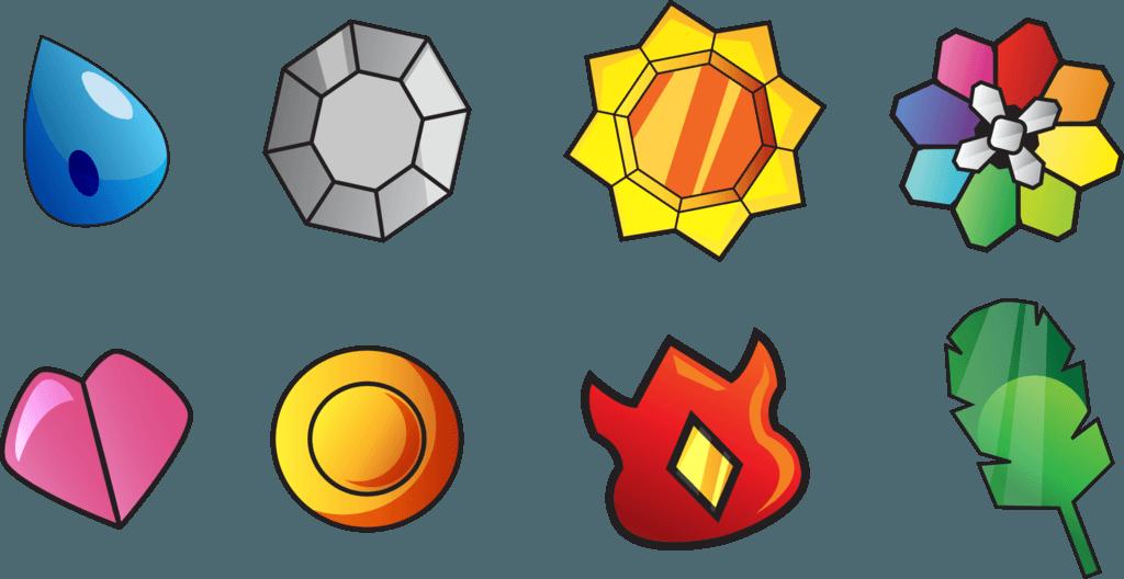 Pokemon kanto gym badges by johnriddle20 d36s1hj for Gimnasio 8 pokemon rojo fuego
