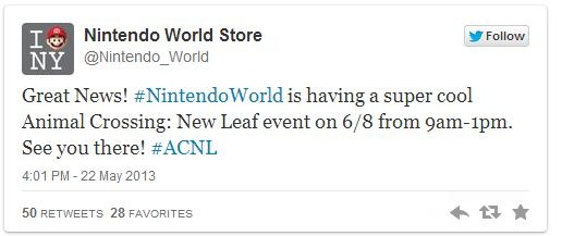 Animal Crossing Nintendo World Store Event