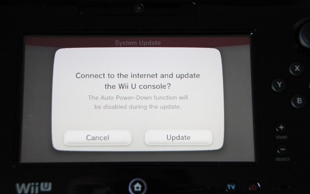 Wii U System Update