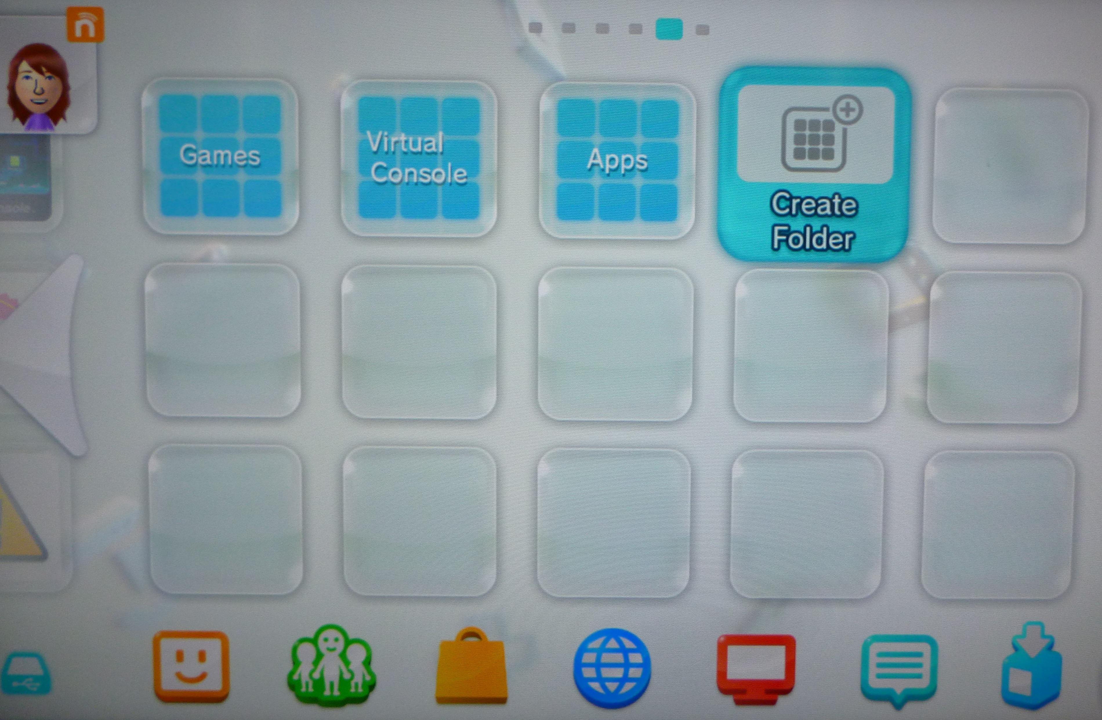 Wii U system update finally adds folders
