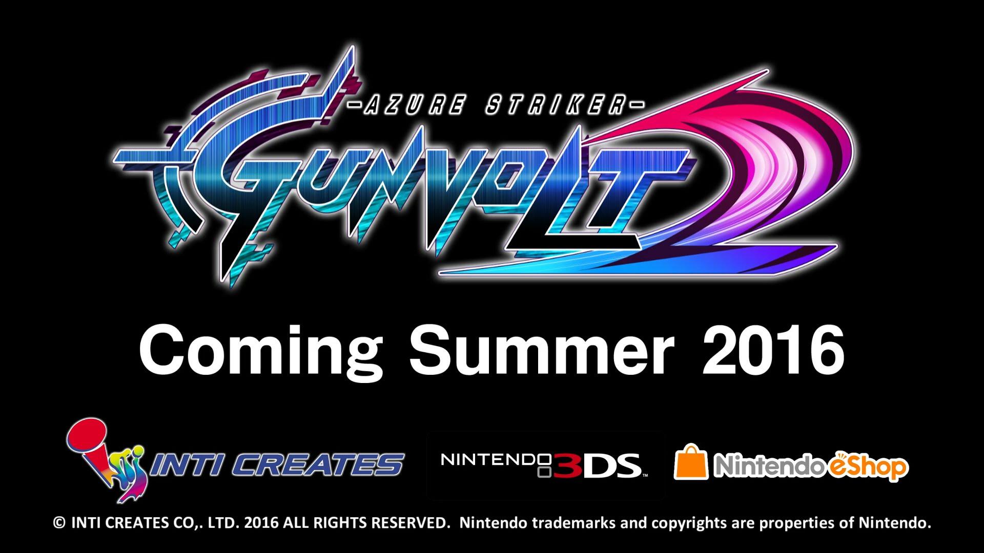 Trailer for Azure Striker Gunvolt 2 released